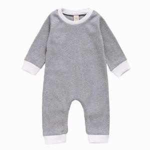 GREY | Ribbed baby toddler romper